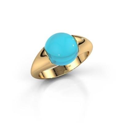 Foto van Ring Robine 585 goud blauw topaas 10 mm