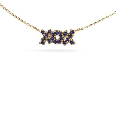 Picture of Necklace XoX 585 gold sapphire 1.5 mm