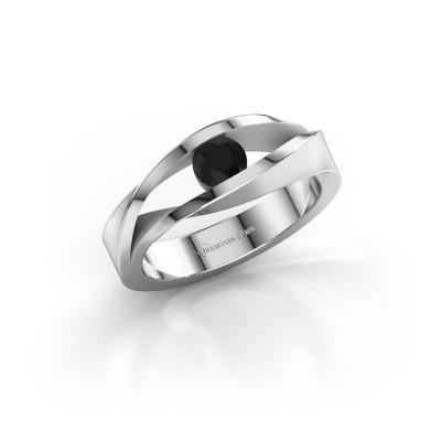 Bild von Ring Ruthanne 375 Weissgold Schwarz Diamant 0.36 crt