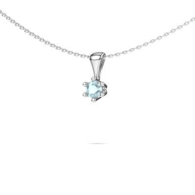 Picture of Necklace Fay 585 white gold aquamarine 4 mm