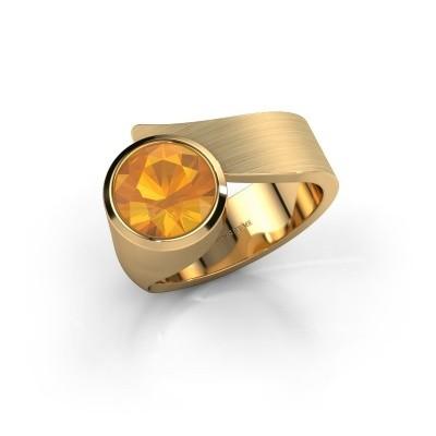 Ring Nakia 585 goud citrien 8 mm