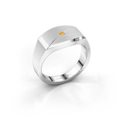 Foto van Heren ring Joe 5 925 zilver citrien 2 mm