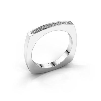 Aanschuifring Ashley 585 witgoud diamant 0.065 crt