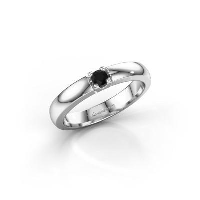 Foto van Verlovingsring Rianne 1 585 witgoud zwarte diamant 0.12 crt