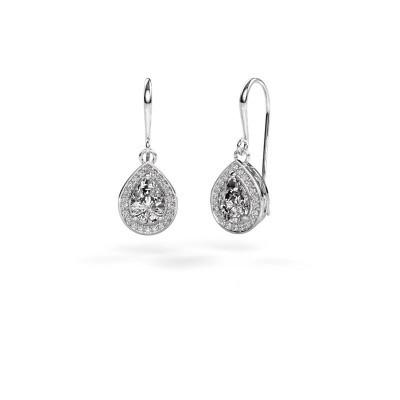 Foto van Oorhangers Beverlee 1 950 platina diamant 1.41 crt
