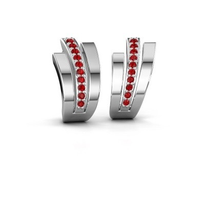 Picture of Earrings Emeline 925 silver ruby 1.1 mm