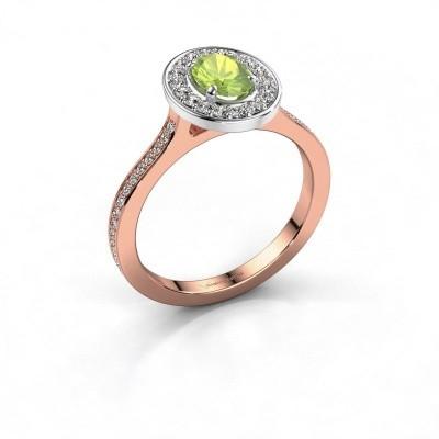 Foto van Ring Madelon 2 585 rosé goud peridoot 7x5 mm