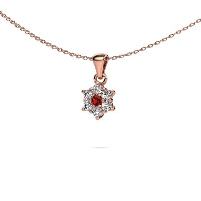 Picture of Necklace Chantal 585 rose gold garnet 2.4 mm