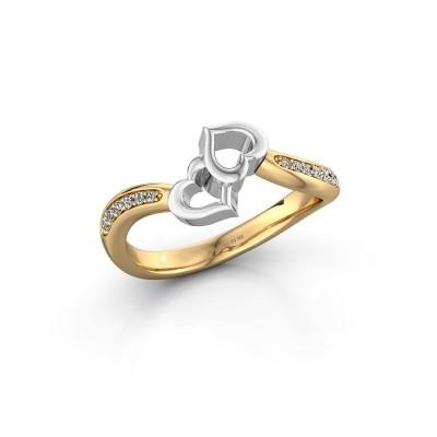 Ring Xaviera 585 goud diamant 0.112 crt