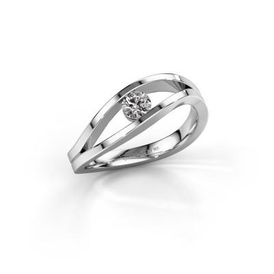 Foto van Aanzoeksring Sigrid 1 585 witgoud diamant 0.20 crt
