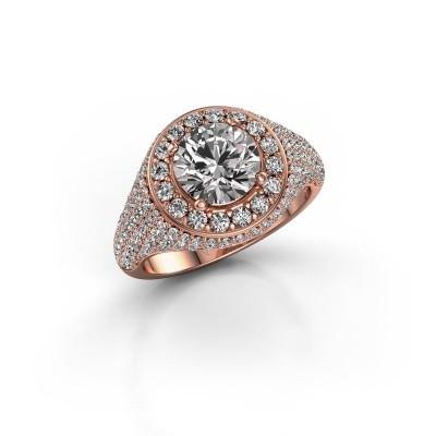 Foto van Ring Dayle 375 rosé goud zirkonia 7 mm