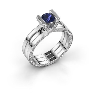 Picture of Ring Kenisha 585 white gold sapphire 5 mm