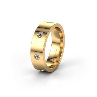 Trouwring WH0105L16BP 585 goud diamant 0.385 crt ±6x2 mm