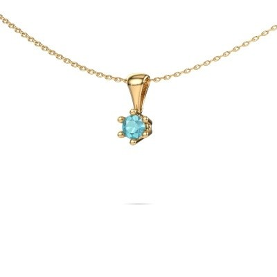 Picture of Necklace Fay 375 gold blue topaz 4 mm