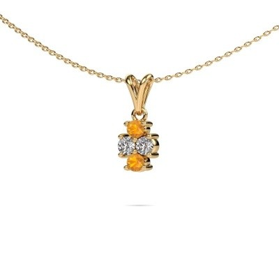 Picture of Necklace Richelle 375 gold citrin 3 mm