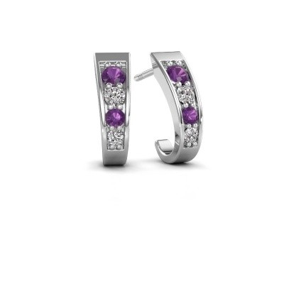 Picture of Earrings Glady 925 silver amethyst 3 mm