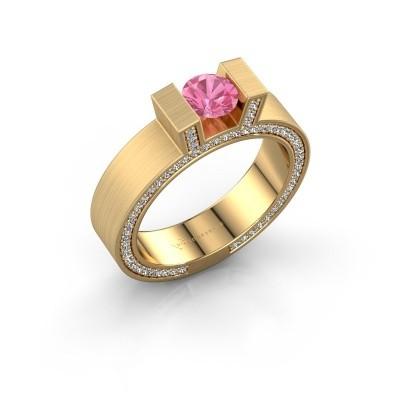 Foto van Ring Leena 2 375 goud roze saffier 5 mm