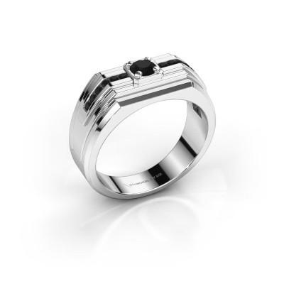 Foto van Heren ring Oliver 925 zilver zwarte diamant 0.516 crt