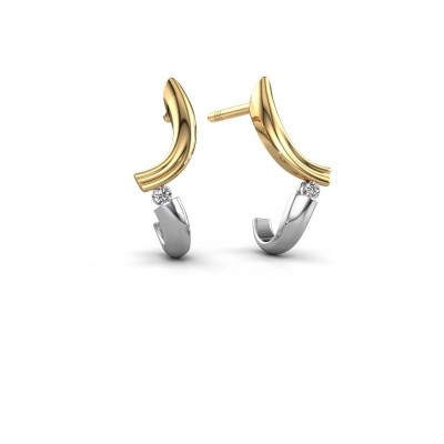 Picture of Earrings Tish 585 gold diamond 0.03 crt