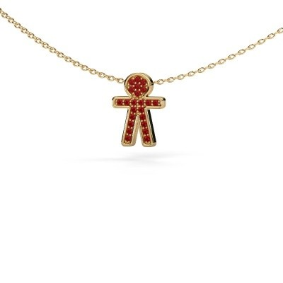 Picture of Pendant Boy 585 gold ruby 1 mm