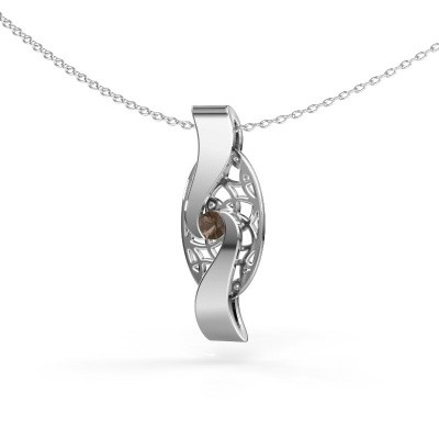 Picture of Pendant Darleen 585 white gold smokey quartz 3 mm
