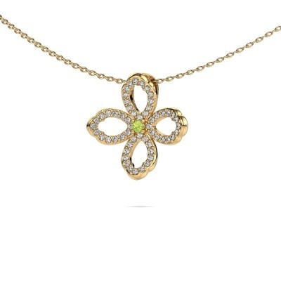 Picture of Necklace Chelsea 585 gold peridot 2 mm
