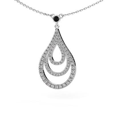 Picture of Pendant Delpha 585 white gold black diamond 0.490 crt