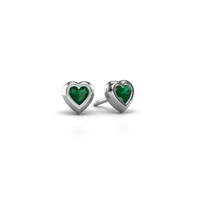 Picture of Stud earrings Charlotte 925 silver emerald 4 mm