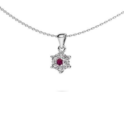 Picture of Necklace Chantal 950 platinum rhodolite 2.4 mm