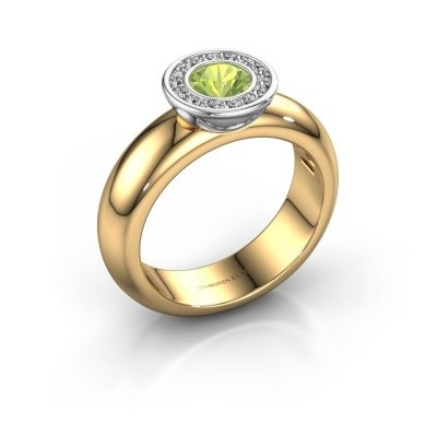 Picture of Stacking ring Anna 585 gold peridot 5 mm