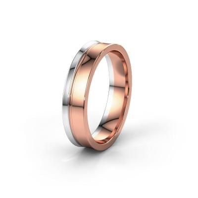 Huwelijksring WH6090M55A 585 rosé goud ±5x1.7 mm