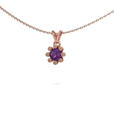 Picture of Pendant Carola 1 585 rose gold amethyst 5 mm