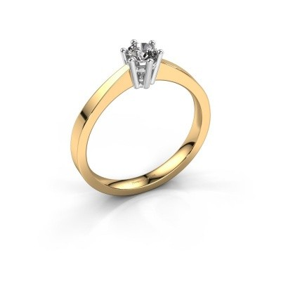 Foto van Verlovingsring Noortje 585 goud diamant 0.25 crt