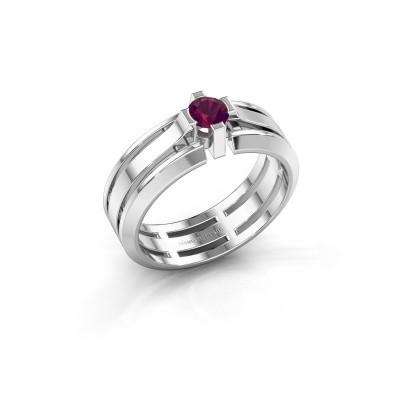 Foto van Heren ring Sem 950 platina rhodoliet 4.7 mm