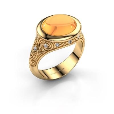 Foto van Ring Natacha 585 goud citrien 12x10 mm