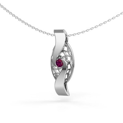 Picture of Pendant Darleen 585 white gold rhodolite 3 mm