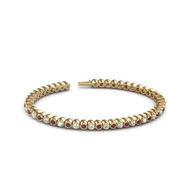 Foto van Tennisarmband Patrica 375 goud rhodoliet 2.4 mm