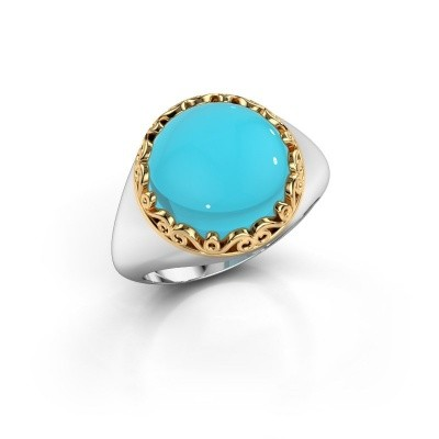 Picture of Ring Birgit 585 white gold blue topaz 12 mm