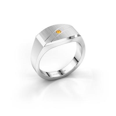 Foto van Heren ring Joe 3 925 zilver citrien 2 mm