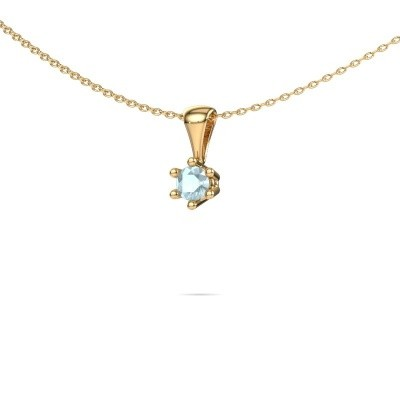 Picture of Necklace Fay 375 gold aquamarine 4 mm