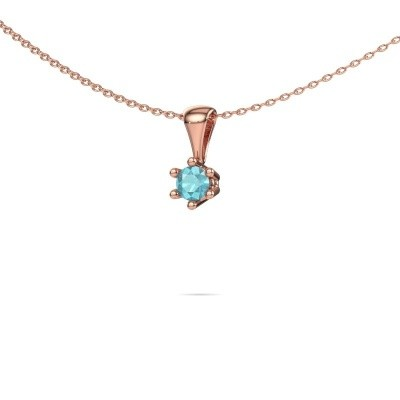 Picture of Necklace Fay 585 rose gold blue topaz 4 mm