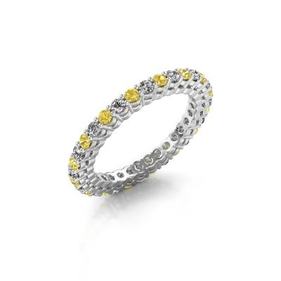 Picture of Stackable ring Rufina 3 585 white gold yellow sapphire 1.9 mm