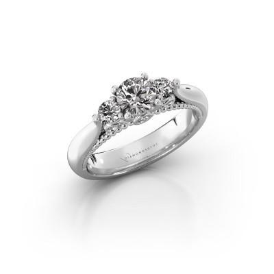 Foto van Verlovingsring Tiffani 585 witgoud diamant 0.70 crt
