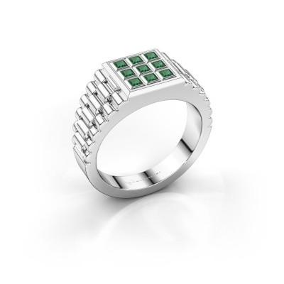Foto van Rolex stijl ring Chavez 925 zilver smaragd 2 mm