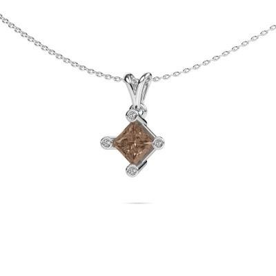 Picture of Pendant Cornelia Square 950 platinum brown diamond 1.32 crt