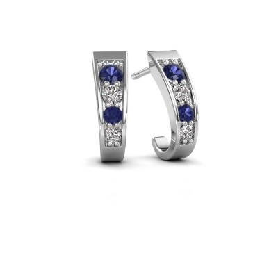 Picture of Earrings Glady 925 silver sapphire 3 mm