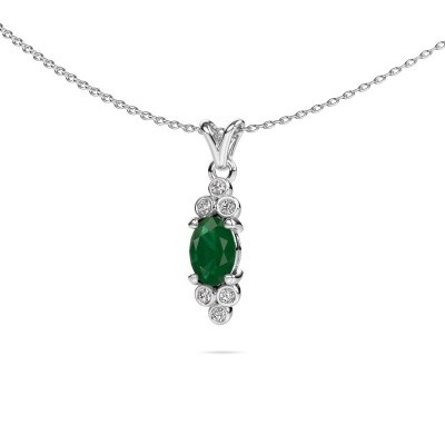 Picture of Pendant Lucy 2 950 platinum emerald 7x5 mm