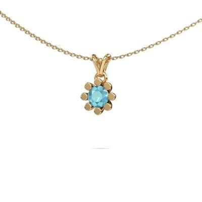 Picture of Pendant Carola 1 585 gold blue topaz 5 mm
