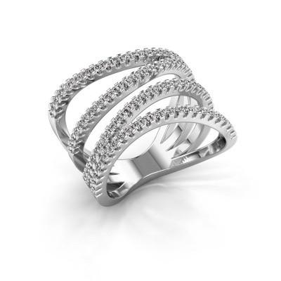 Ring Mitzi 585 witgoud diamant 0.735 crt