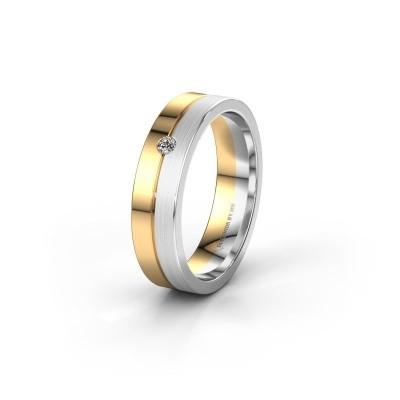 Trouwring WH0201L15APM 585 goud diamant ±5x1.7 mm
